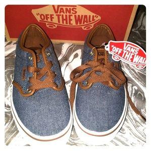 Boy's Blue Jean Vans